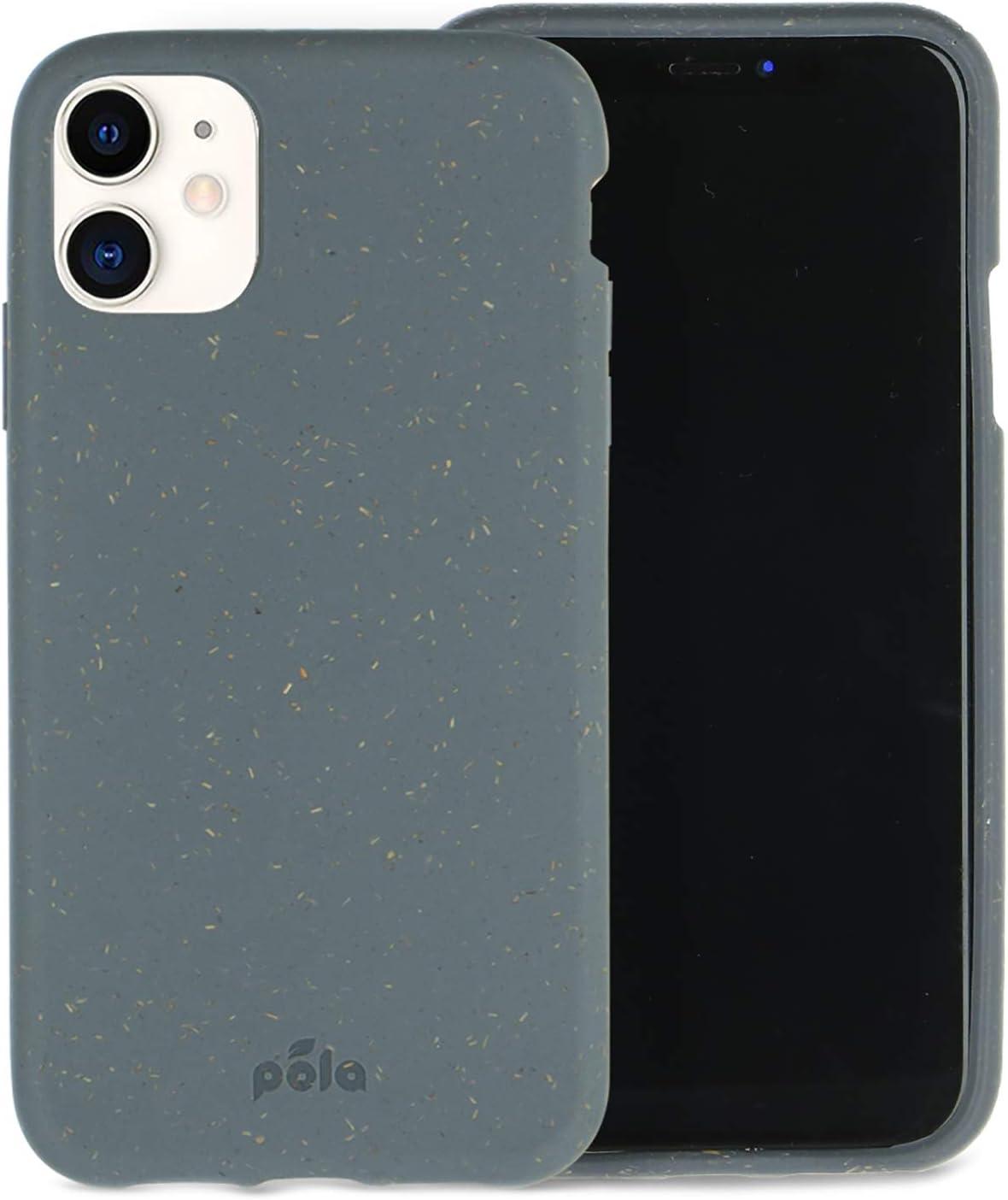 Pela - Funda para el iPhone 11-100% compostable - Biodegradable - Hecho con Plantas - Cero residuos (11 Shark)