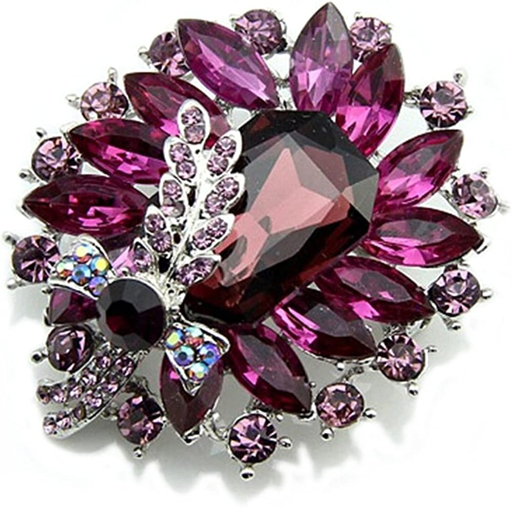 Gilroy Womens Banquet Party Brooch Pin Crystal Broach Wedding Gifts