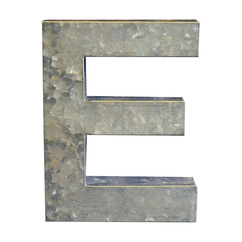 Modelli Creations Alphabet Letter E Wall Decor, Zinc