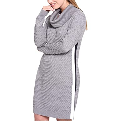 f259fb7d5fa Image Unavailable. Image not available for. Color  Tommy Hilfiger Cowl-Neck  Sweater Dress Grey ...
