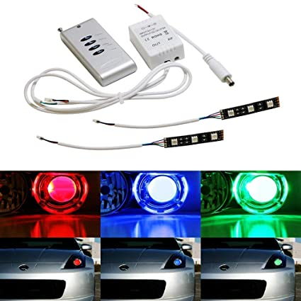 Amazon Com Ijdmtoy 2 3 Smd 5050 Rgb Led Demon Eye W Remote