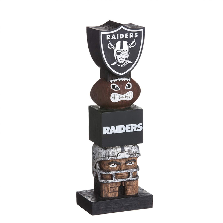 Evergreen Enterprises NFL Oakland Raiders 843822TTB Tiki Totem 2018, Team Colors, One Size