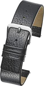 Alpine Genuine Leather Watch Band - Smooth Flat Leather Watch Strap 12mm, 14mm, 16mm, 18mm, 20mm - Black, tan, Burgundy, Pink, Blue, Green, Purple, Yellow