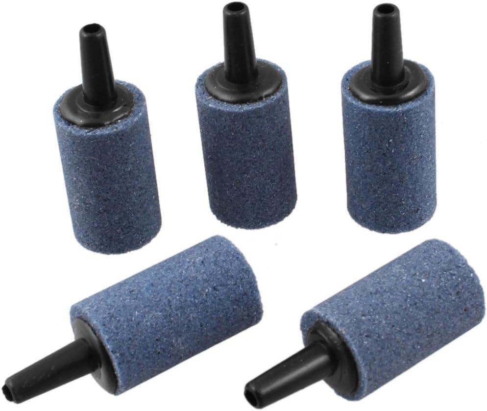 10 Pezzi Pietra porosa a Forma di Cilindro per Acquario 5 mm sourcingmap Blu