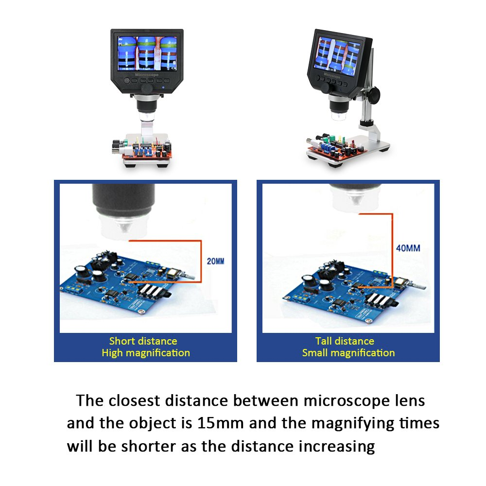 Microscope Kkmoon 600x 43 Lcd Display 36mp Electronic Circuit Board Repair Gt World Supply Digital Video Portable Led Magnifier For Mobile Phone Maintenance