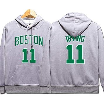 Boston Celtics Sudaderas de Baloncesto, Hombre Irving #11 ...