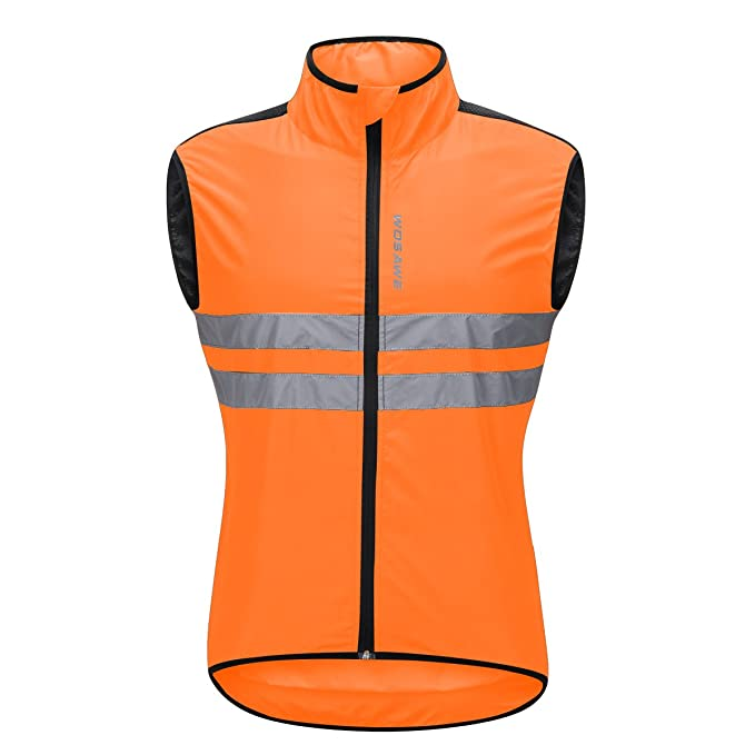 Image Unavailable. Image not available for. Color  Bill Candy Men s High  Visibility Cycling Vest Sleeveless Reflective Bicycle Gilet ... 38fd04f71