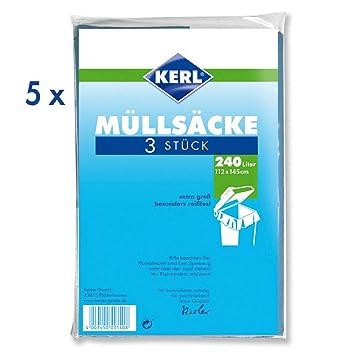 Amazon.com: KERL 4003450023809 LDPE - Bolsas de basura (240 ...