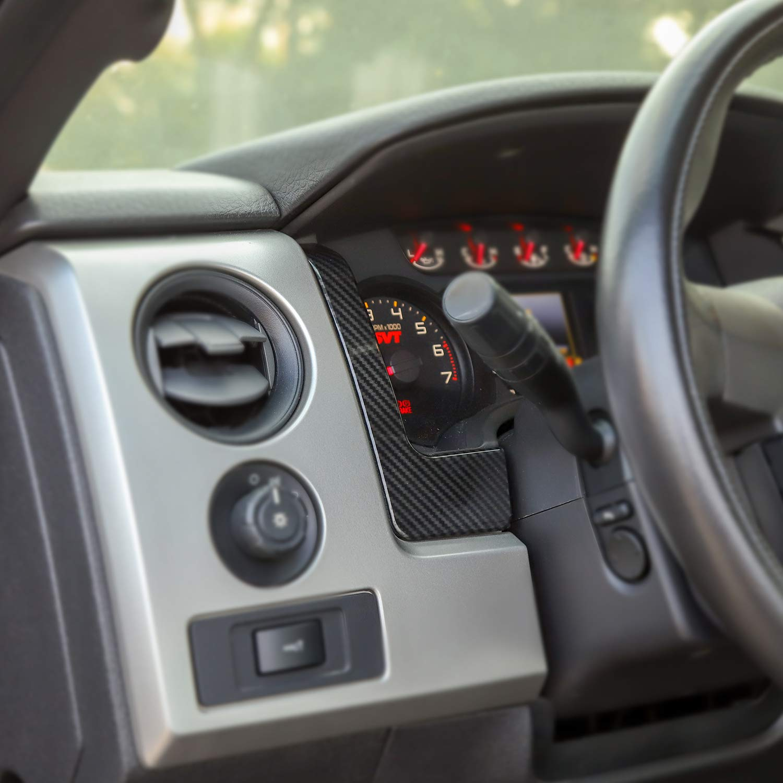 Carbon Fiber Grain Car Dashboard Trim Panel Decoration Cover Frame for 2009-2014 Ford F150
