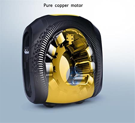 Guoyajf Bomba Del Compresor De Aire De 12V DC, Inflador De Neumático Digital Con Indicador Digital, Con Luz De Emergencia LED, Para Automóviles, ...