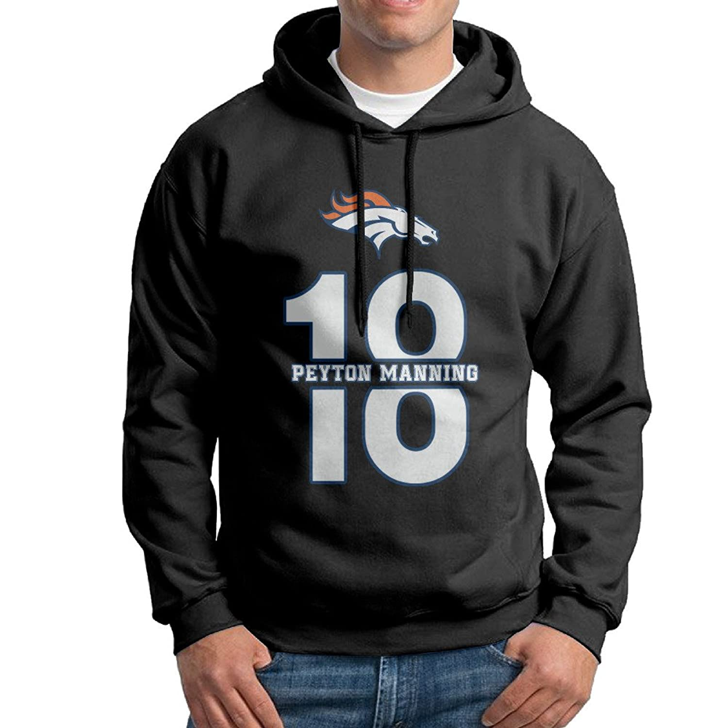 various colors 83a3e 98645 SuperFF Men's Peyton Manning Hooded Sweatshirt 60%OFF ...