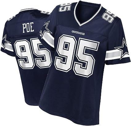 Dontari Poe Dallas Cowboys #95 Rugby Jersey, Women's American ...