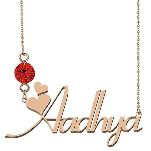 cf51581d0d3e3 Amazon.com  HUAN XUN Custom Nameplated Jewelry 18K Gold Necklace ...