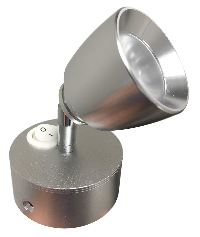 taskar 12 V LED-Diagramm Spot Light 3 W silber –  Caravan/Boot/Wohnmobil