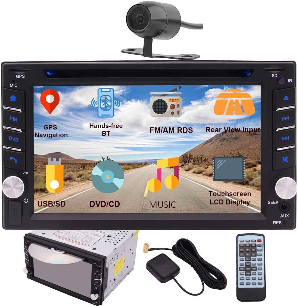Eincar Double Din Car Stereo Gps Navigation Car Dvd Cd Player In Dash Bluetooth Head Unit With Capacitive Touchscreen Am Fm Rds Autoradio 2 Din Car Radio Receiver Audio Video Usb