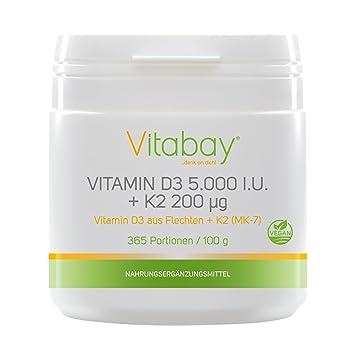 Vitamina D3 5,000 I.U. + Vitamina K2 Menaquinona MK7 200 ?g - 99,99