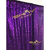 ON SALE 4FTx7FT Sequin backdrops,Purple Sequin photo booth backdrop, Party backdrops, Wedding backdrops, sparkling backdrops , Christmas decoration (Purple)