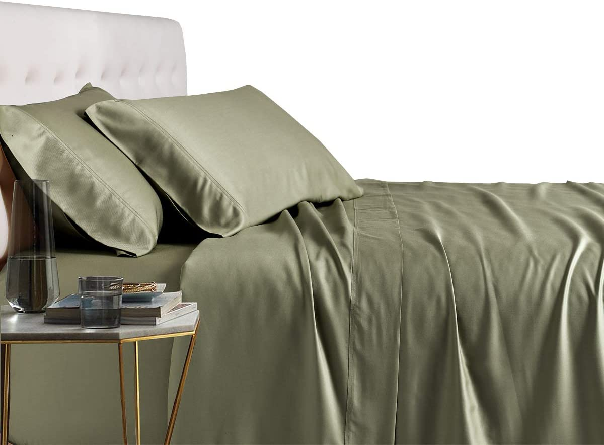 AUSSIE KING SIZE 100/% PURE BAMBOO Pure Luxury Sheet Set with **4** PILLOWCASES