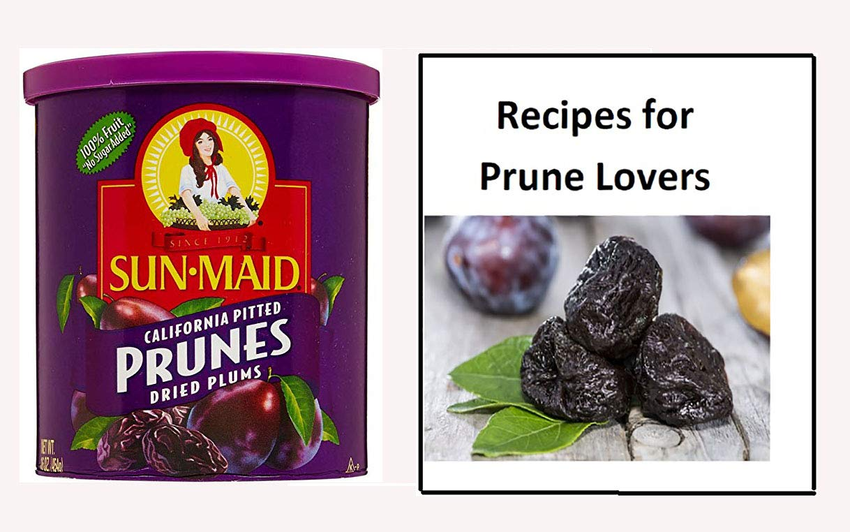 Sun Maid Pitted Prunes - 16 oz Can of SunMaid Prunes and ''Recipes For Prune Lovers'' E-Book by SunMaid
