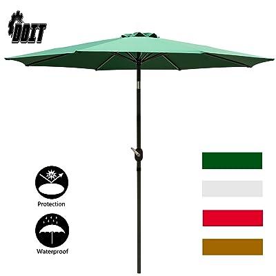 DOIT 9ft Patio Table Umbrella with Crank and 8 Ribs : Garden & Outdoor