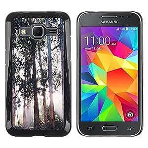 Paccase / SLIM PC / Aliminium Casa Carcasa Funda Case Cover - Trees Magical Forest Light - Samsung Galaxy Core Prime SM-G360