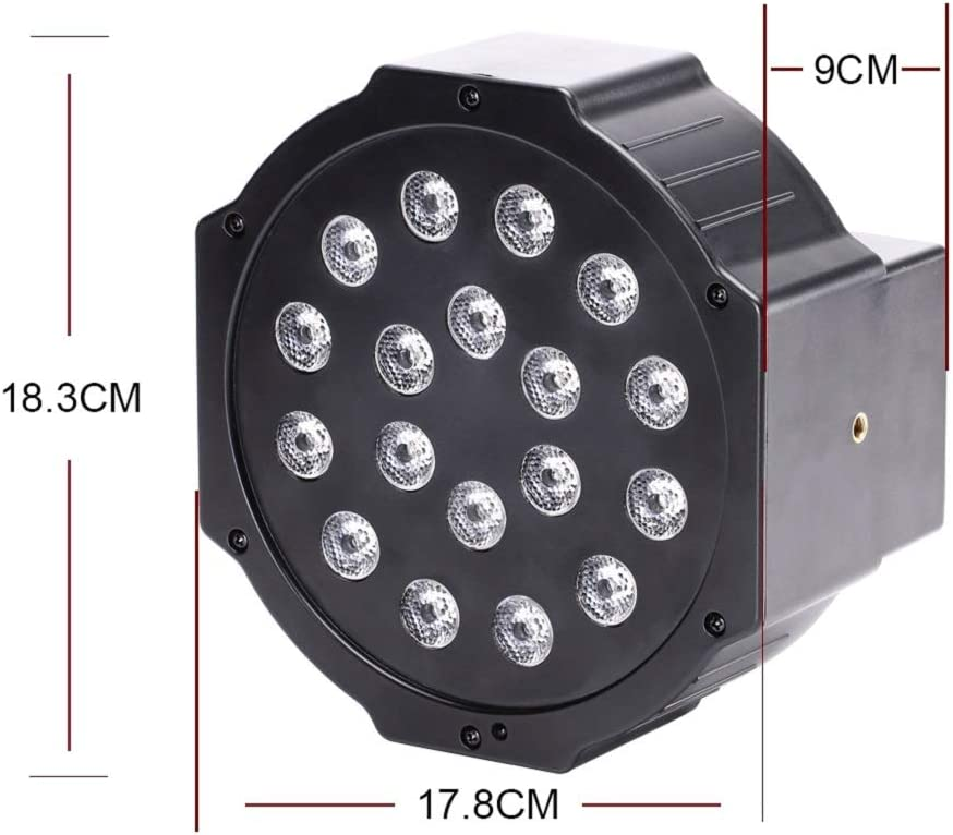 UKing Black Lights 36W 18 LED UV Spotlights Disco Lights 7 Stage Lighting Modes Glow in the Dark Party by Remote Sound Activated for DJ Church Theater Bar Stage Lights