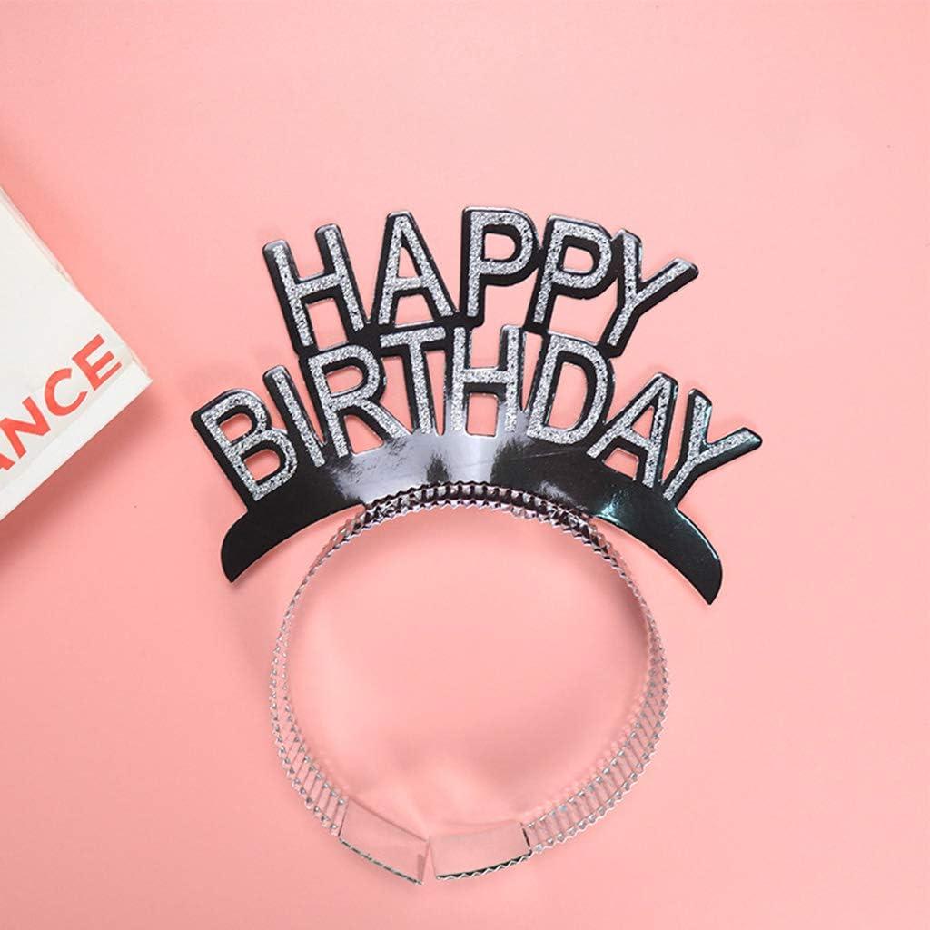 goneryisour Serre-t/ête Happy Birthday pour adultes et enfants Diad/ème en aluminium pour f/ête danniversaire