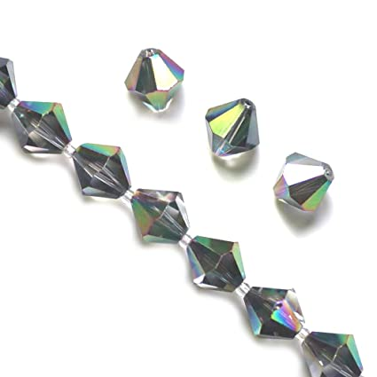 b99560d6f ... 4mm Adabele Austrian Bicone Crystal Beads Metallic Scarabaeus Green  Compatible with Swarovski Crystals Preciosa 5301/5328 SSB431: Everything  Else