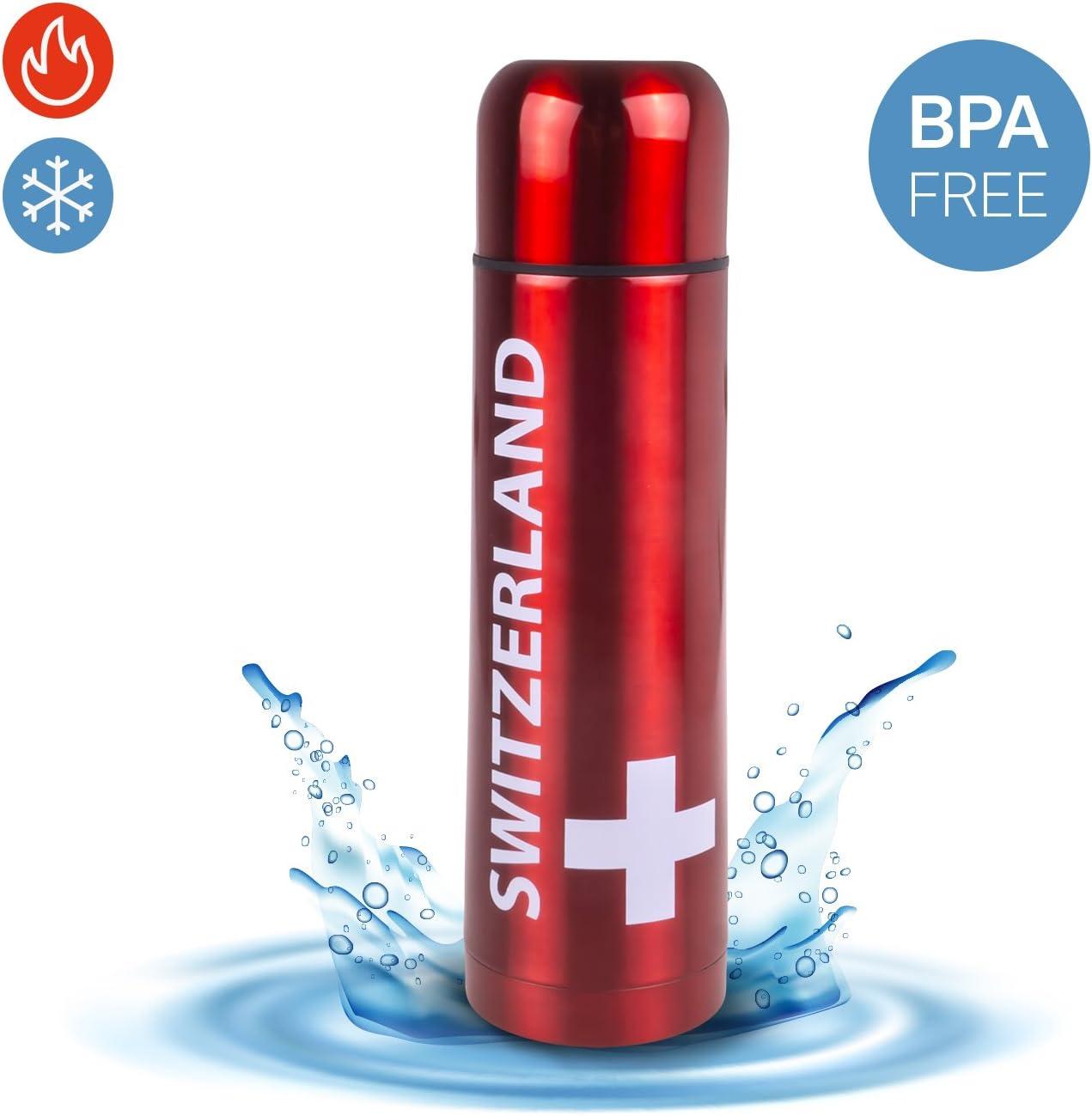 Aluminium Bouteille isotherme Switzerland Hot & Cold - avec ...