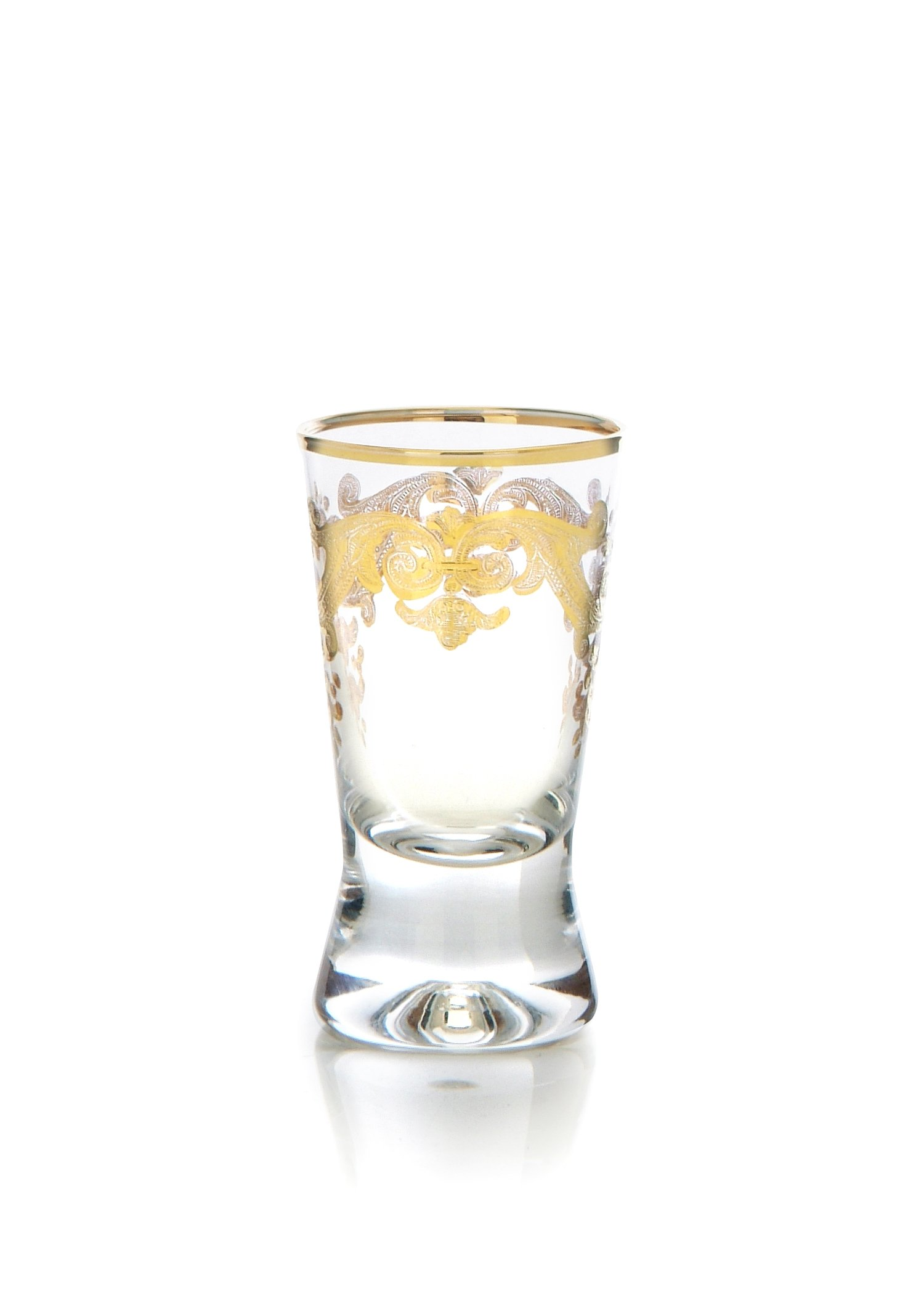 Classic Touch CLGG610 Liqueur Glasses with 24K Gold Artwork, Set of 6 by Classic Touch Inc.