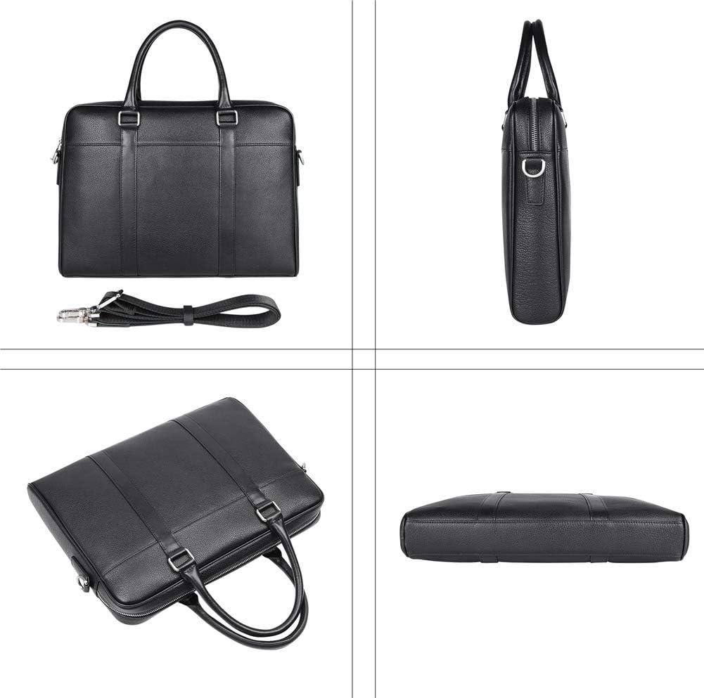 Genda 2Archer Business Leather Handbag Men Laptop Shoulder Bag