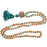 Mogul interior verde Jade Chakra BUDDHAFIGUREN/Billy Held–Mala (rosario budista Japamala collar Yoga joyería