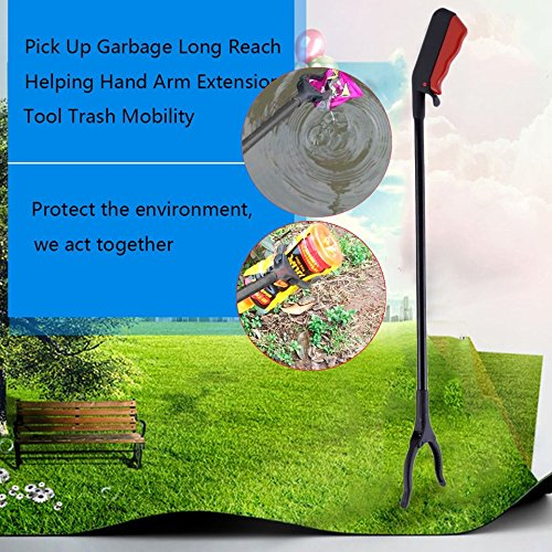 Long Handy Mobility Aids,Reaching Assist Tool for Trash Claw Pick Up,Litter Picker,Garden Nabber,Arm Extension Swiftswan Grabber Reacher Tool