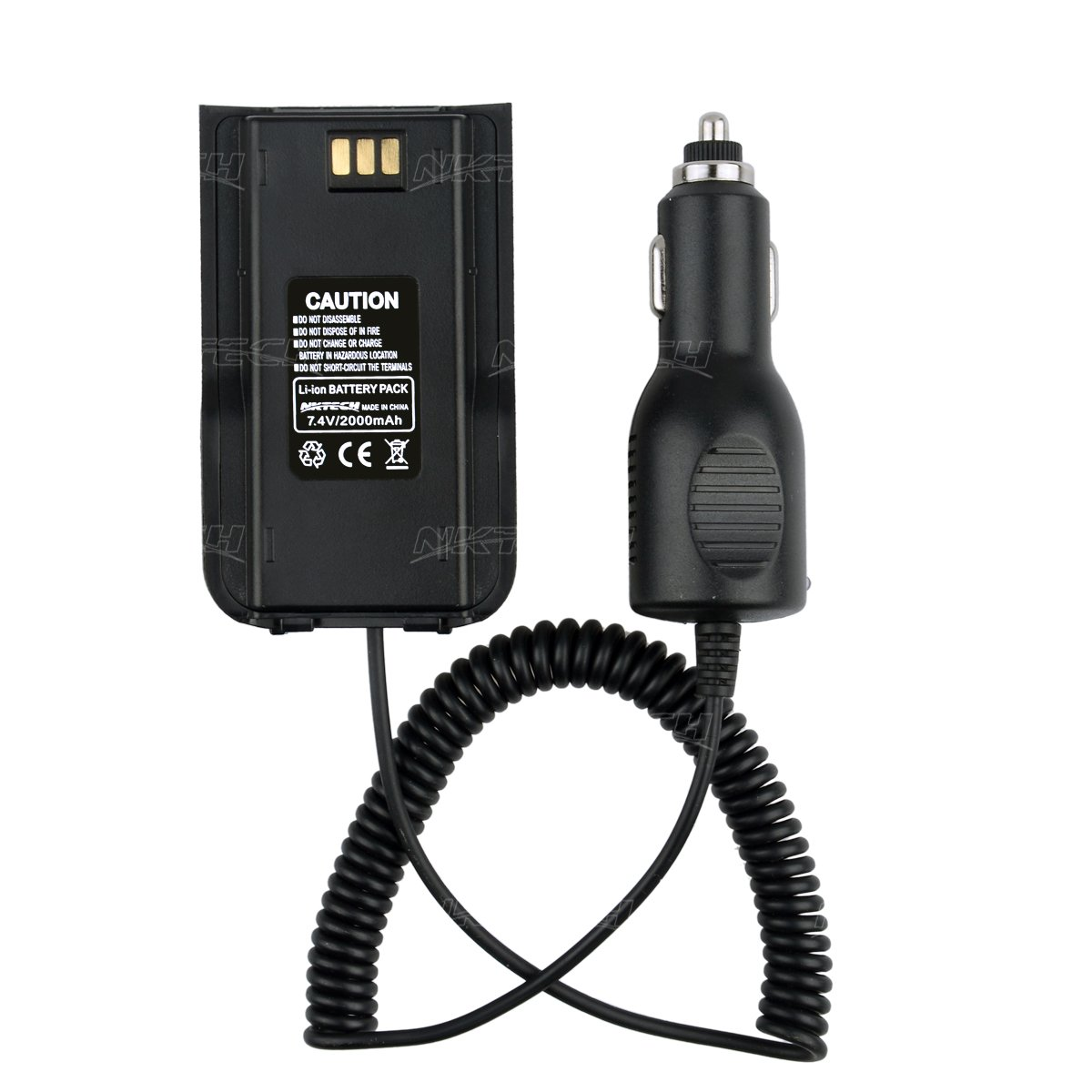 NKTECH Car Charger Battery Eliminator For TYT Tytera MD-380 NKTECH MD-380U MD-380V Digital Mobile Radio DMR Two Way Radio Transceiver Pack of 20 by NKTECH (Image #8)