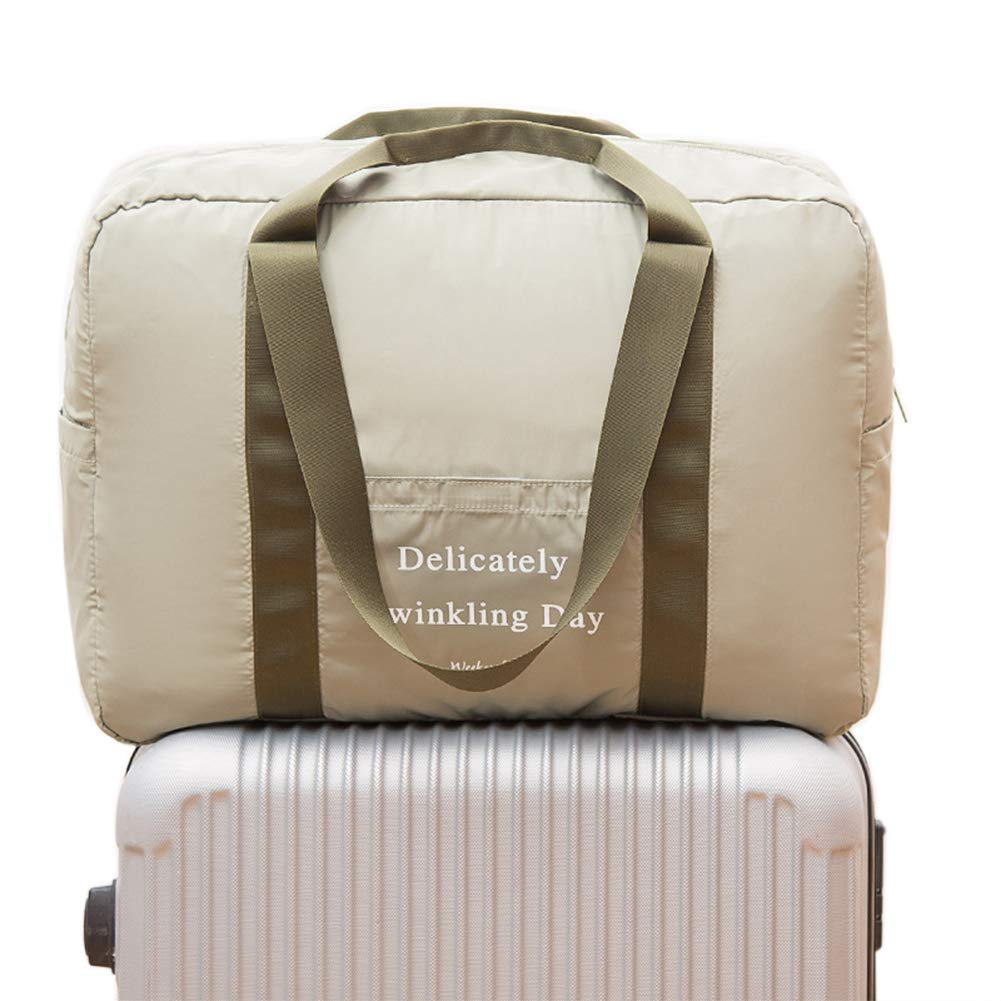Belsmi Foldable Travel Duffle Bag Duffel Waterproof Lightweight Storage Carry Luggage Gym Sports Tote Bag Green