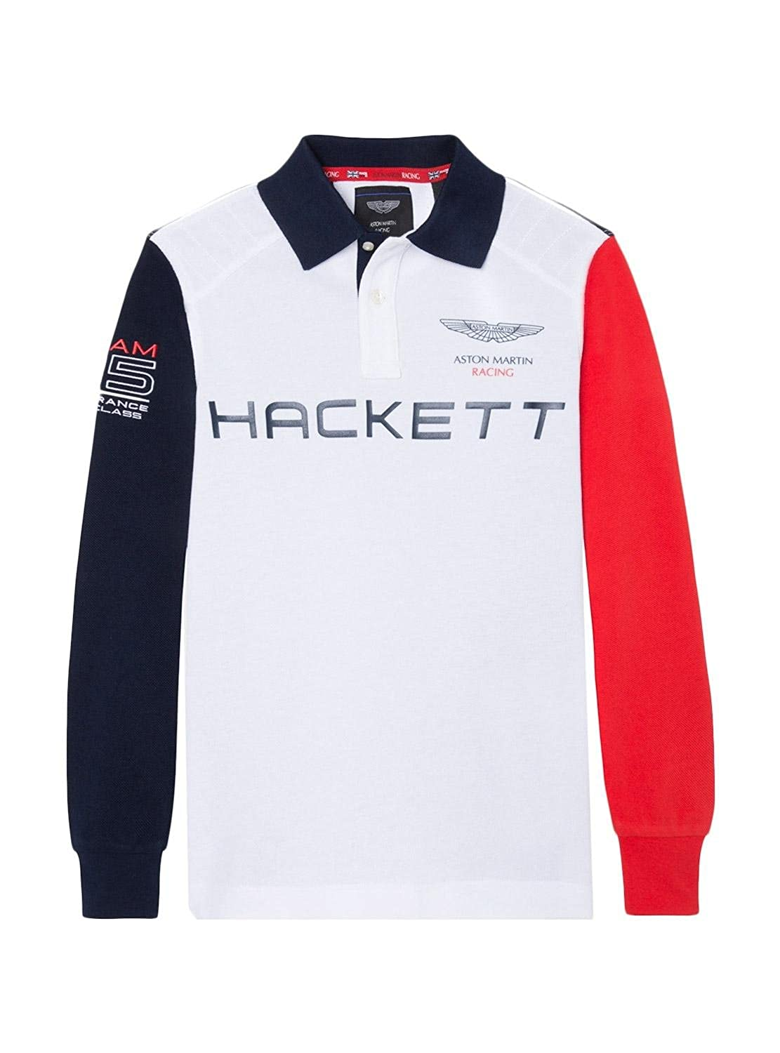 Polo Hackett AMR Multi Blanco: Amazon.es: Ropa y accesorios
