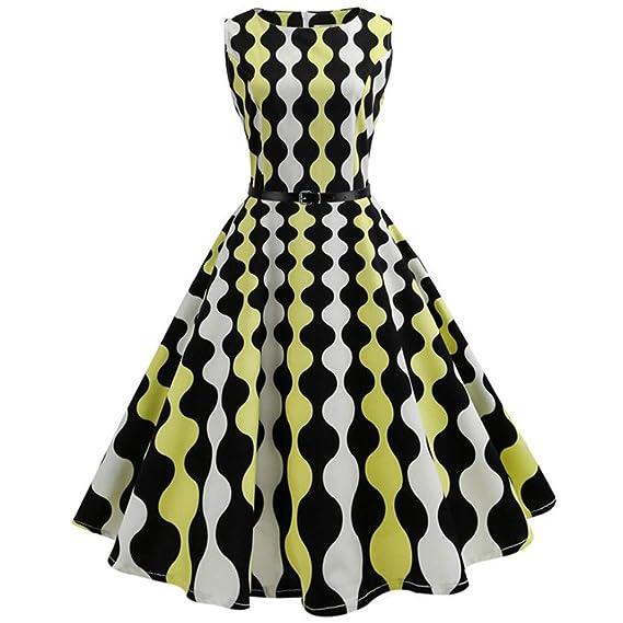 Vestidos de Fiesta ❤Btruely Herren VintageVestido de Impresión de la Mariposa del Remiendo del Cordón