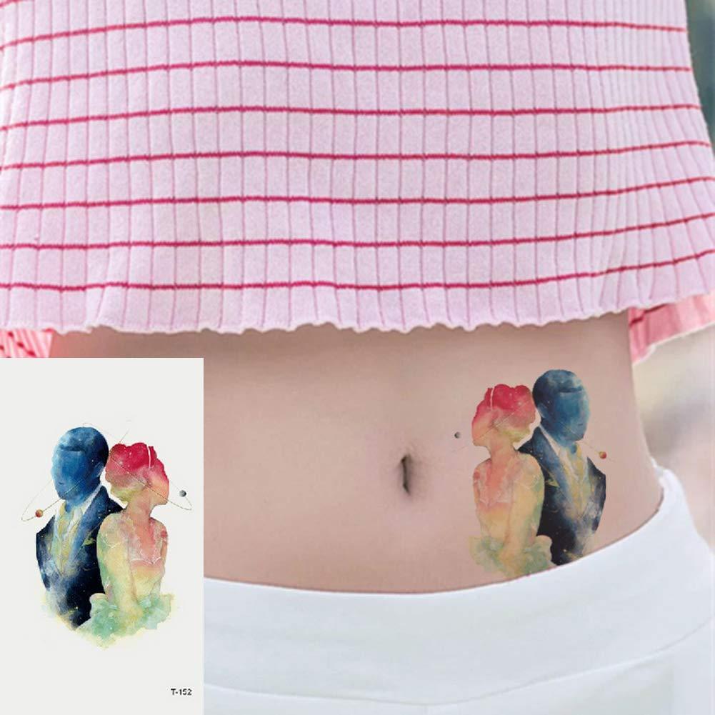 Oottati 2 Hojas Pequeño Lindo Tatuaje Temporal Tattoo Pareja De ...