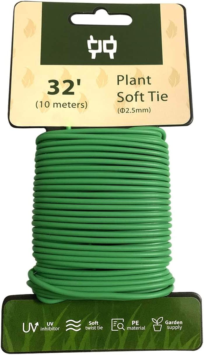HHMM 32.8 ft Soft Plastic Coated Wire Tie 2.5mm for Garden Plant Support