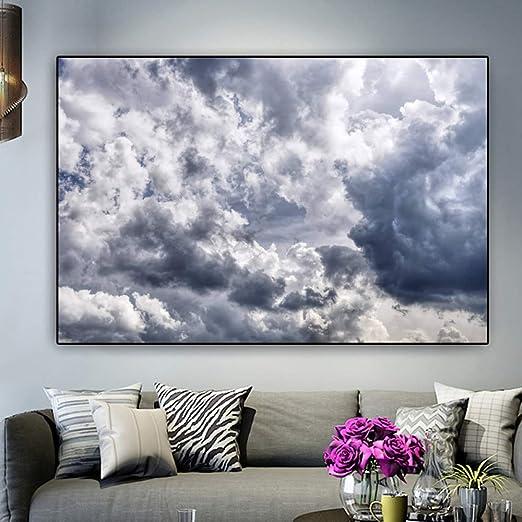 NIMCG Paisaje impresión Cielo y Nube Lienzo Pintura Moderna Cartel ...
