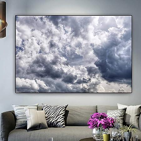 NIMCG Paisaje impresión Cielo y Nube Lienzo Pintura Moderna ...