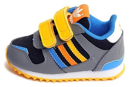 new york 169ed 162c8 Adidas ZX 700 CF I Infant Toddlers Grey Yellow  Orange Blue G95289   Amazon.ca  Shoes   Handbags