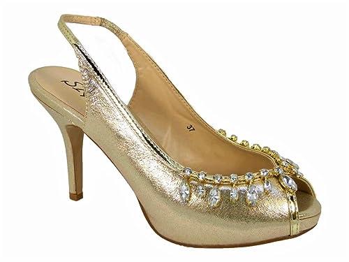 SKO'S Zapatos de Tacón Chica Mujer, Color, Talla 36 EU