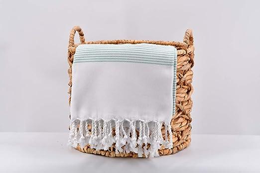 Soft Large 100/% Cotton Turkish Peshtemal Beach Hamam Bath Towel with Kese Gift