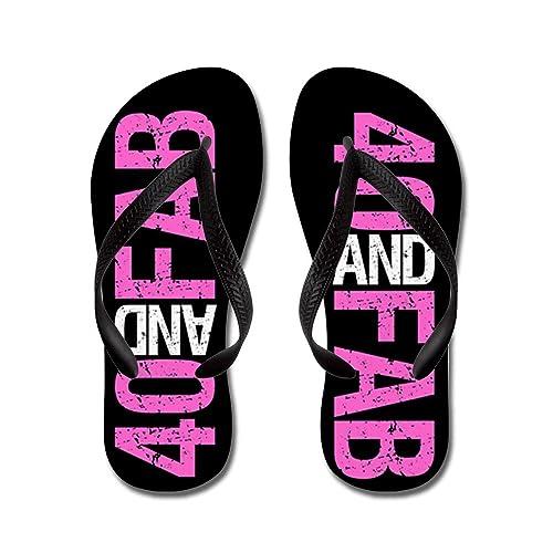 Fabulous 40Th Birthday - Flip Flops Funny Thong Sandals Beach Sandals