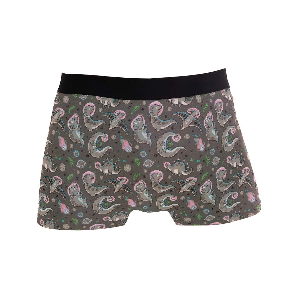 Charlley Lee Mens Soft Breathable Funny Sea Dinosaur Brown Underwear Boxer Briefs