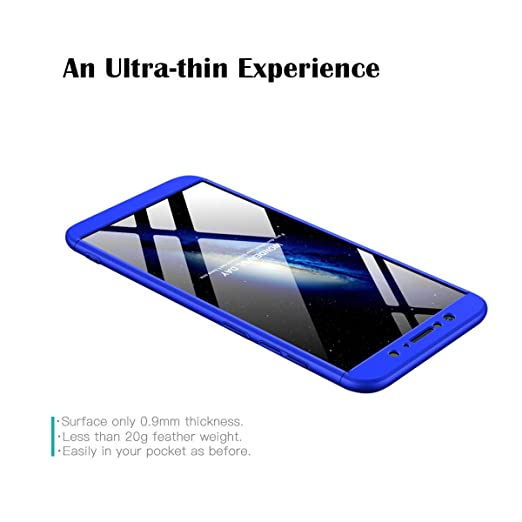 GoodcAcy Funda ASUS Zenfone MAX Pro M1 ZB601KL,Carcasa Móvil de Protección de 360°+ Cristal Templado HD Protector de Pantalla 3 en 1 Desmontable con ...
