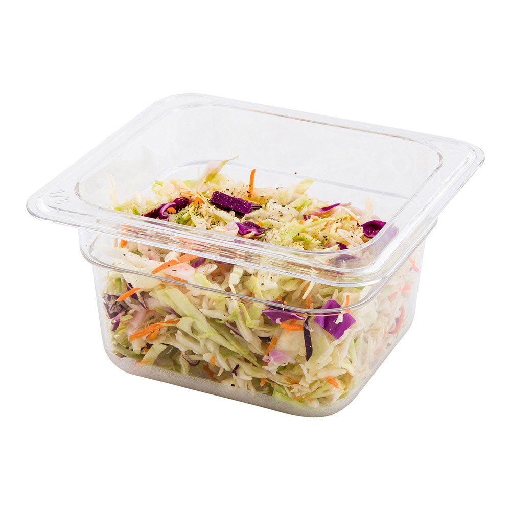 """Cold Food Pan - Plastic Cold Food Storage Container - 21"""" Long by 4"""" Deep - 1ct Box - Met Lux - Restaurantware"""