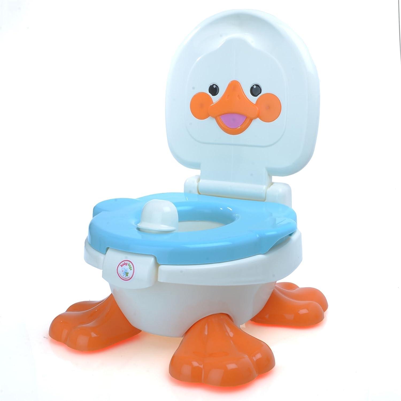 Babyhugs©–3in 1Motiv Cute Duck Design Kinder Kinder Kleinkind Töpfchen WC-Training Sitz Schritt Hocker mit Anti-Rutsch-Füße und Spritzschutz–Blau