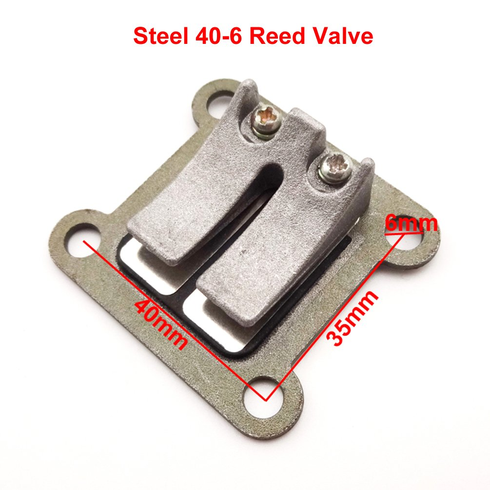XLJOY 47cc 49cc Engine Reed Valve Block Plate for Pocket Bike Mini Moto ATV Dirt Bike